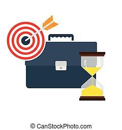 concetto, amministrazione, vettore, illustrazione, tempo