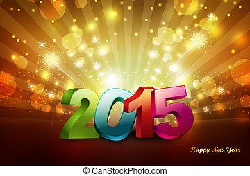 concetto, anno, 2015, nuovo, celebrazione, felice