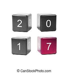 concetto, anno nuovo, 2017