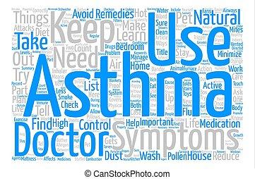 concetto, asma, testo, come, vivere, fondo, parola, tuo, nuvola