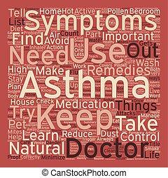 concetto, asma, testo, vivere, come, wordcloud, fondo, tuo