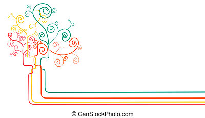 concetto astratto, albero, fondo