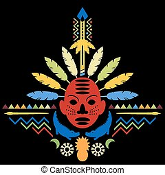 concetto astratto, arte, tribale, africano