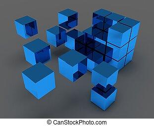 concetto astratto, cubi