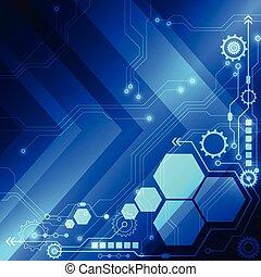 concetto, astratto, vettore, fondo, tecnologia digitale