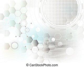 concetto, astratto, vettore, tecnologia, fondo