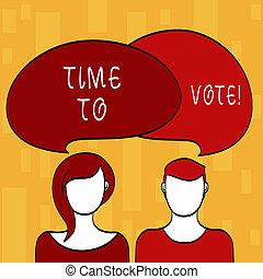 concetto, avanti, testo, tempo, un po', significato, candidati, scegliere, fra, scrittura, vote., govern., elezione