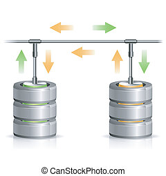 concetto, backup, database