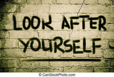 concetto, badare, te stesso
