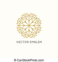concetto, bellezza, -, vettore, disegno, cosmetica, logotipo