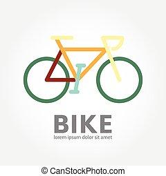concetto, bicicletta, logotype, bicicletta, logotipo, design., icona