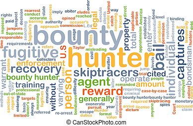 concetto, cacciatore, fondo, generosità