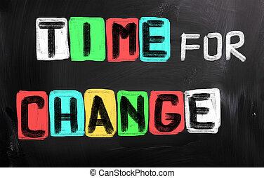 concetto, cambiamento, tempo