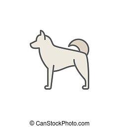 concetto, cane, colorito, icona