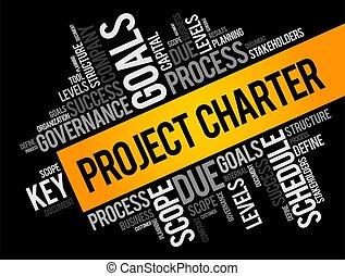 concetto, carta, collage, nuvola, progetto, parola, affari