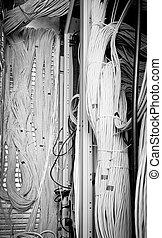 concetto, cavi, rete