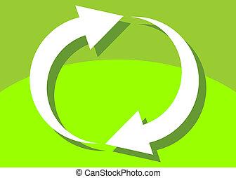 concetto, ciclo, o, cappio, feedback