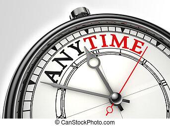 concetto, closeup, qualsiasi momento, orologio
