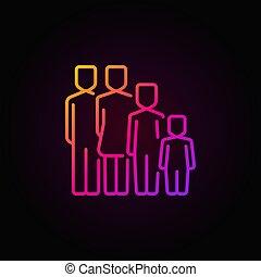 concetto, colorito, famiglia, icona
