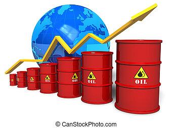concetto, commercio, olio