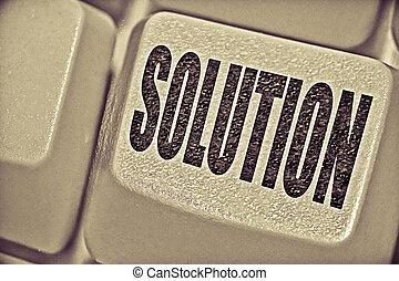 concetto, computer, soluzione, chiave, tastiera