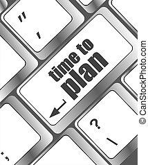 concetto, computer, tempo, futuro, piano, chiave, tastiera