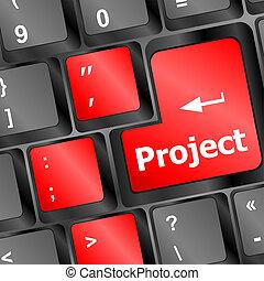 concetto, computer, tempo, progetto, futuro, chiave, tastiera