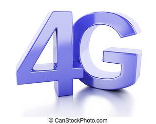 concetto, comunicazione, fili, 4g, icon., tecnologia
