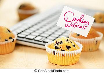 concetto, cottura, webinar