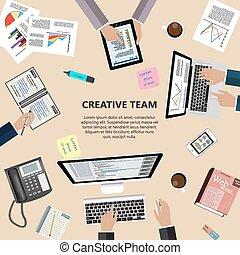 concetto, creativo, squadra