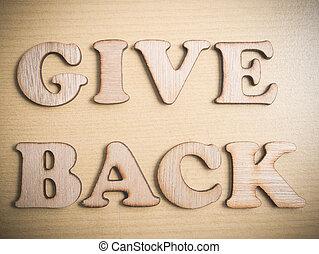 concetto, dare, motivazionale, indietro, citare, parole