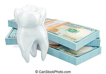 concetto, dentale, interpretazione, costo, trattamento, 3d