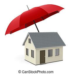 Immagine house isolato fire prevention protezione 3d for Aprire piani casa concetto