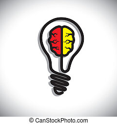 concetto, di, idea, generazione, problema, soluzione,...