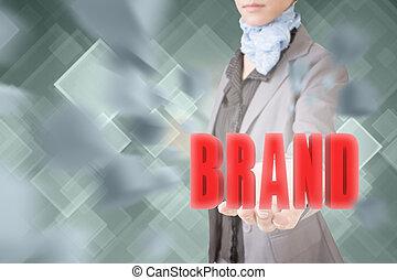 concetto, di, marca