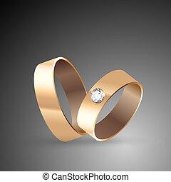 concetto, di, matrimonio, fidanzamento