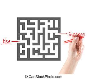 concetto, di, successo, in, affari
