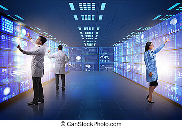 concetto, di, telemedicine, con, dottore maschio