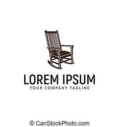 concetto, disegno, sagoma, logotipo, sedia dondolo