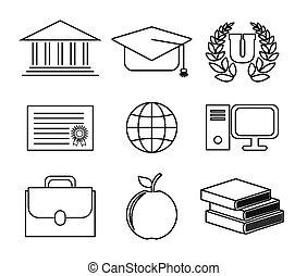 concetto, disegno, scuola