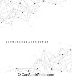 concetto, dna, scientifico, dots., system., comunicazione, medico, atomo, molecola, linee, illustrazione, fondo., collegato, nervoso, neurons., illusione, struttura, sfondo.