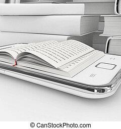 concetto, e-libro, 3d