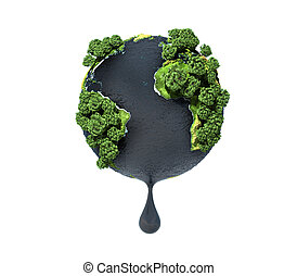 concetto, ecology., planet., .planet, olio, spremere, ocean., terra, risorse