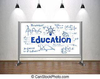 concetto, educazione, whiteboard
