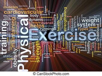 concetto, esercizio, fondo, fisico