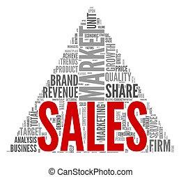 concetto, etichetta, vendite, nuvola