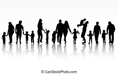 concetto, famiglia, illustrazione