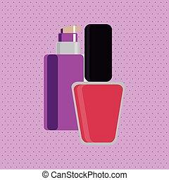 concetto, fare, cosmetico, illustrazione, su, vettore, pelle, icon., design., cura