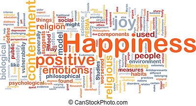 concetto, felicità, fondo