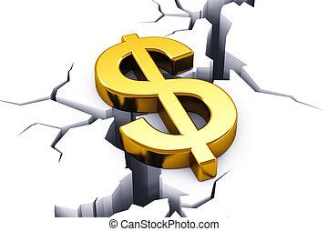 concetto, finanziario, crisi
